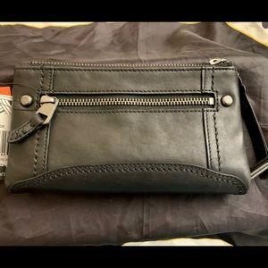 The Sak Black Leather Wallet/Wristlet, NWT